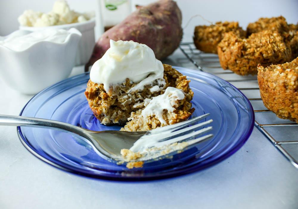 Sneaky Sweet Potato Oat Cups - Miss Allie's Kitchen