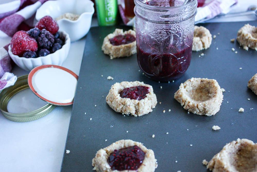 Superfood Thumbprint Cookies