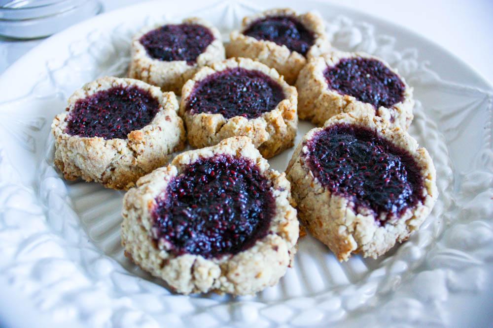 Superfood Overnight Thumbprint Cookies