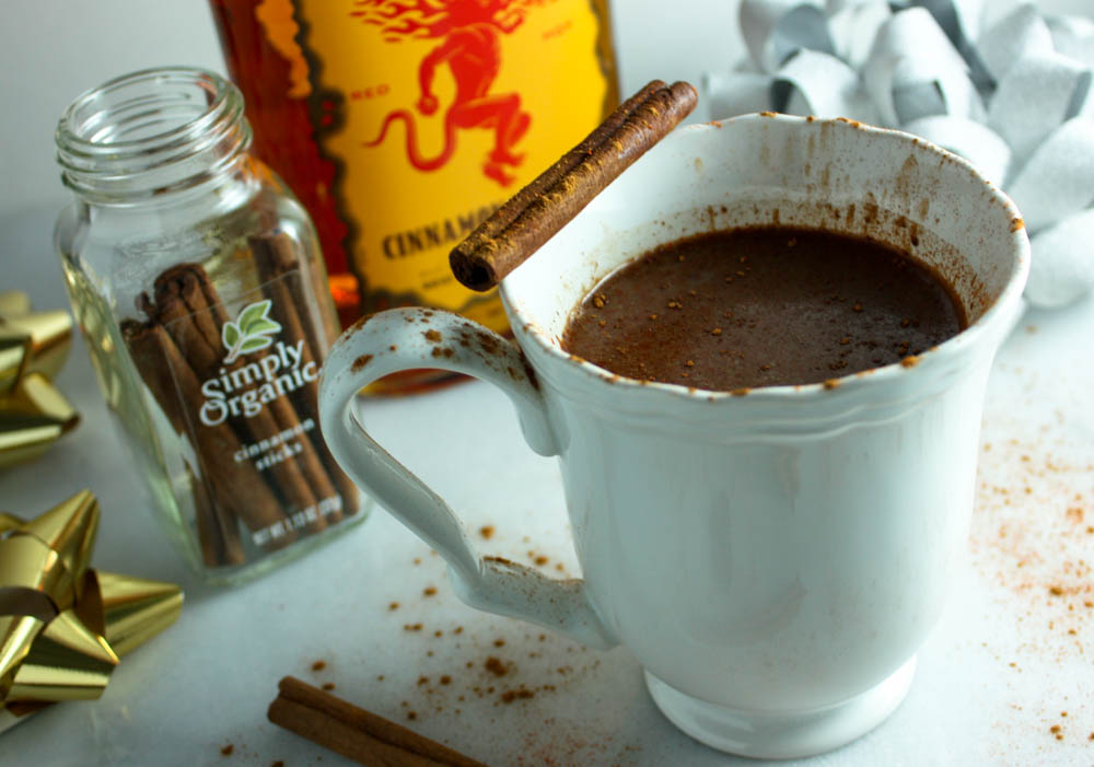 Spicy Whiskey Hot Chocolate