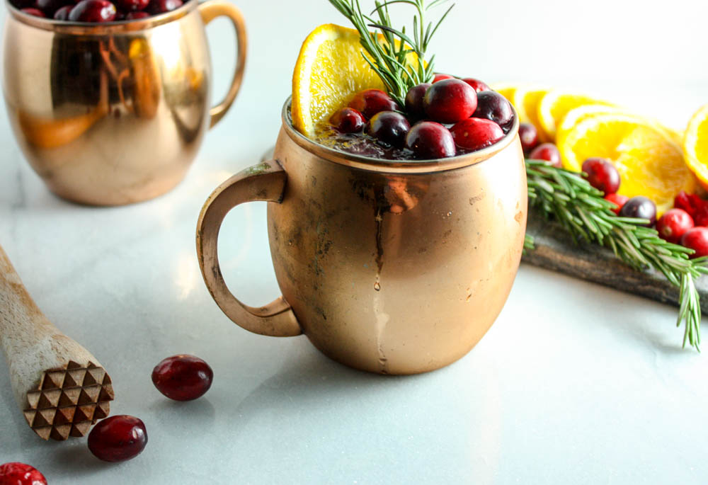 Holiday Moscow Mule - with a twist!