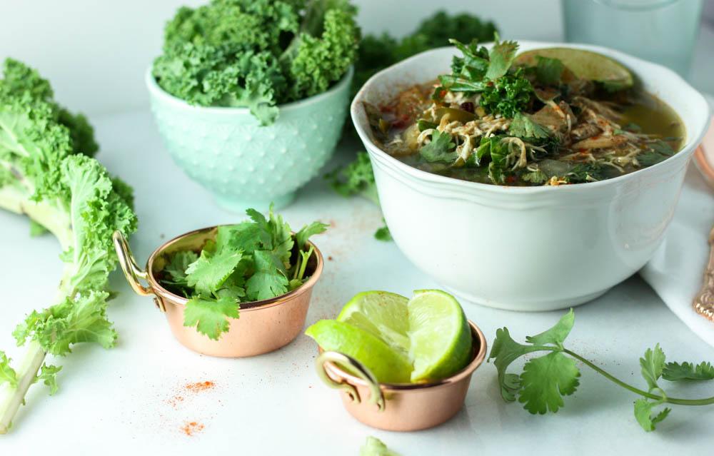 Bright Chicken Kale Chili
