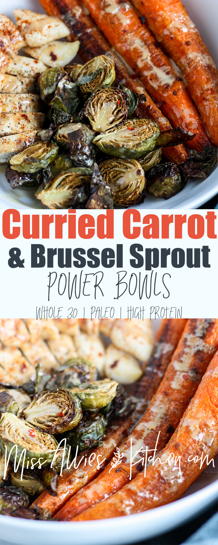 Curried Carrot and Brussel Sprout Power Bowls