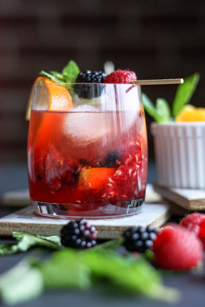 Black Raz Old Fashioned Cocktails
