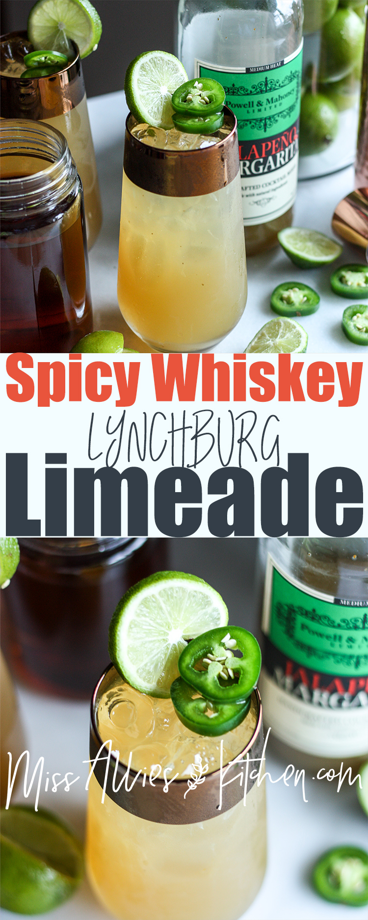 Spicy Whiskey Lynchburg Limeade