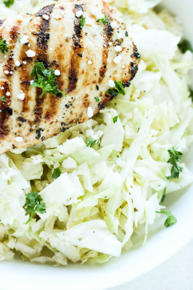 Easy Cabbage Slaw with Chicken