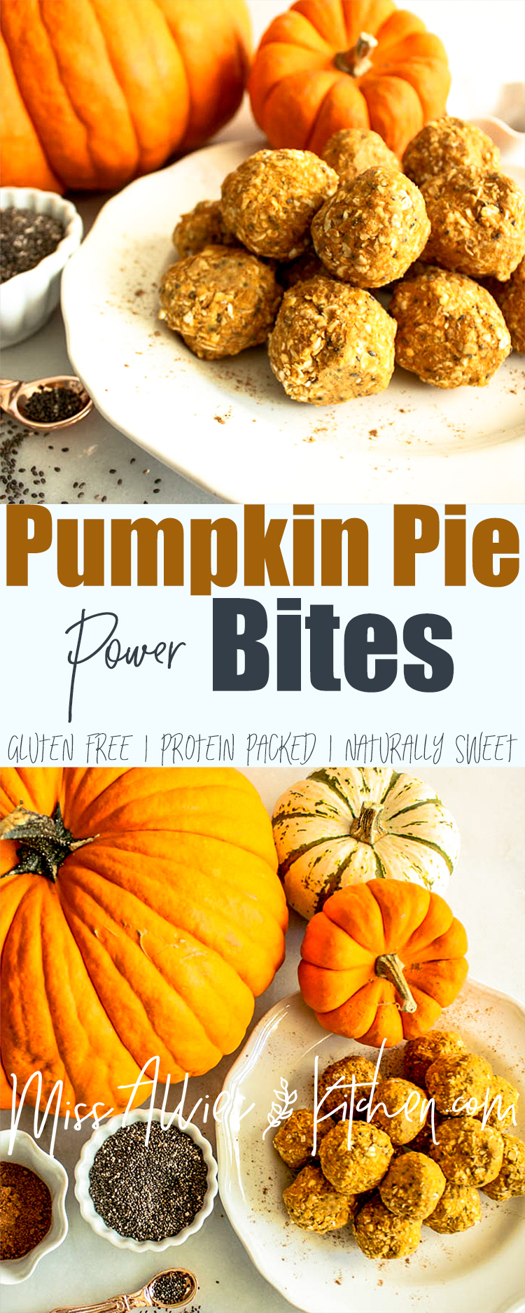 Pumpkin Pie Power Bites - a healthier, fall, power packed treat!