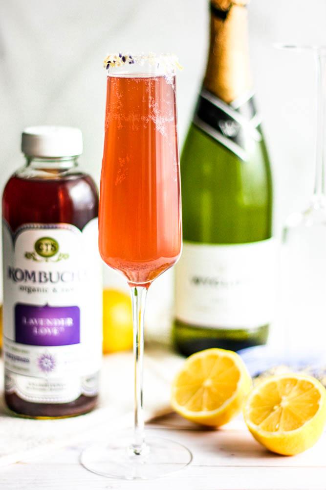 Easy Lavender Lemon Champagne Fizz Cocktails
