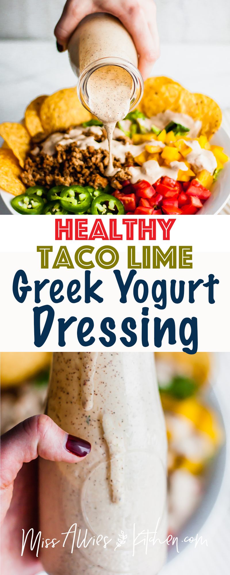Healthy Taco Lime Greek Yogurt Dressing