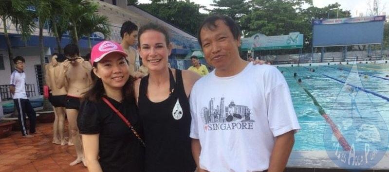 0e5f32855e La piscine de 25m à « Dai Thé Gioi » à Ho chi Minh, avec Tung, qui est une  piscine de loisir :