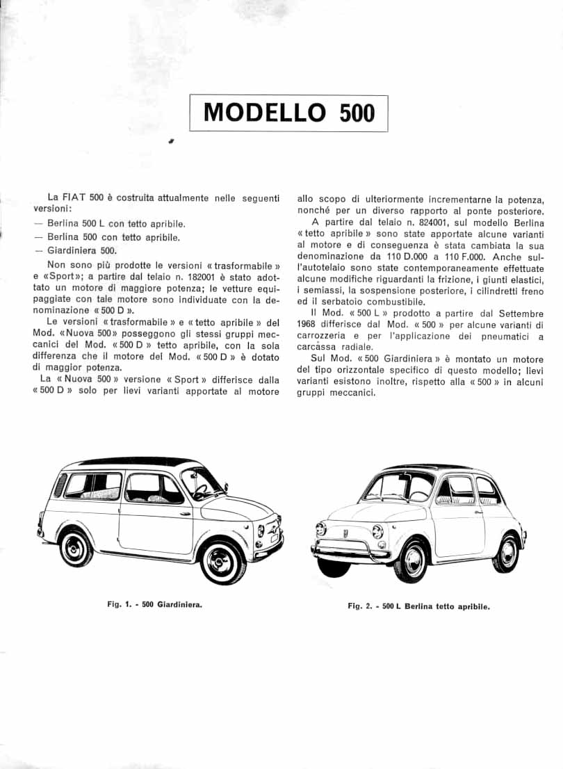 Revisione Motor FIAT 500 (ital.):