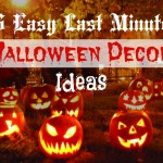 Easy Last Minute Homemade Halloween Decoration Ideas