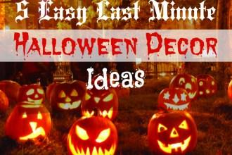 Easy Last Minute Homemade Halloween Decoration Ideas
