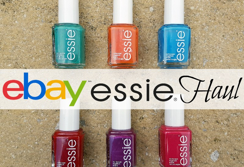 Ebay Bargains: Essie Nail Polish Haul_lockwise L-R: Ruffles & Feathers, Roarrrrange, Strut Your Stuff, Twin Sweater Set, The Lace Is On & Haute In The Heat.