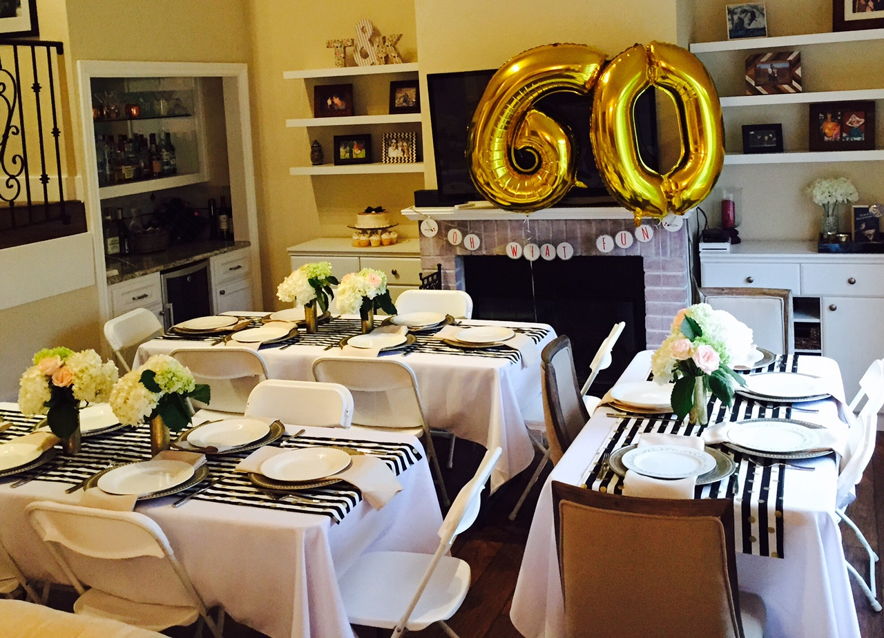 Golden Celebration 60th Birthday Party Ideas For Mom Miss Bizi Bee