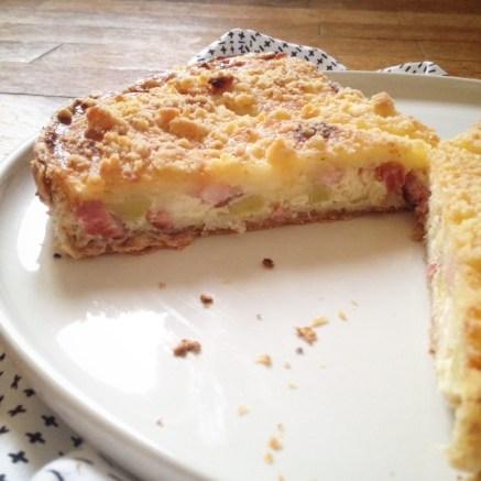 Tarte poireaux lardons crumble parmesan (3)