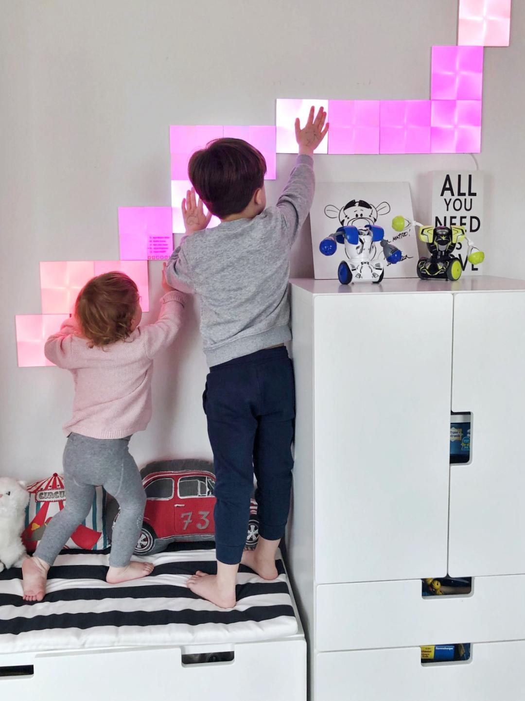 nanoleaf canvas licht kinderzimmer