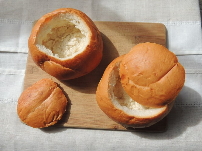 bread bowls for Hungarian beef goulash