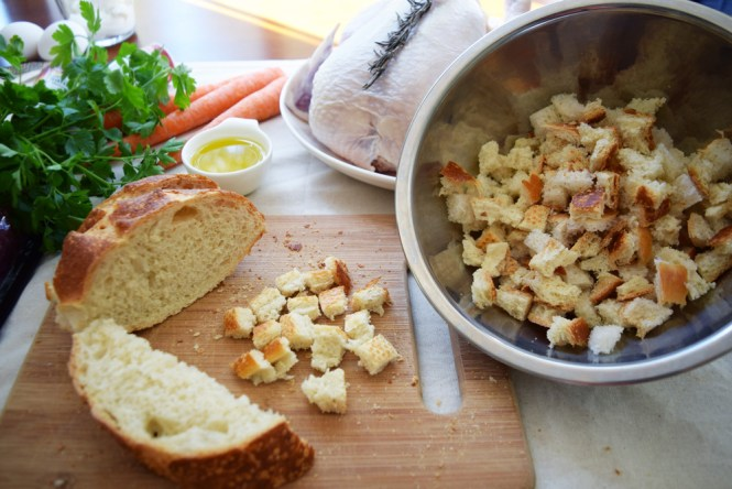 Cut Bread for Stuffing