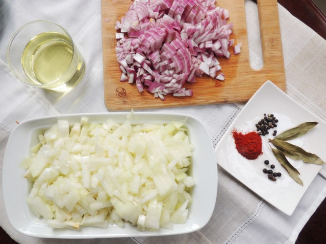 Hungarian beef goulash onions