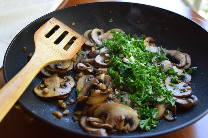 mushrooms with parsley and garlic