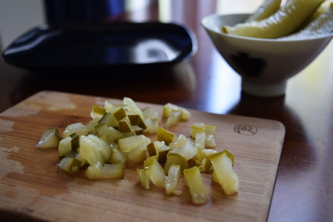 pickles diced