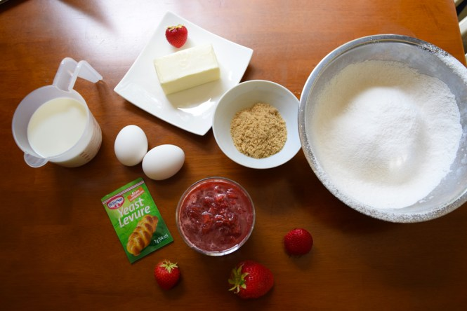 Ingredients Strawberry Jam Bread Buns