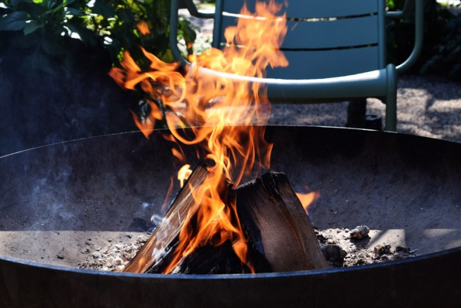 Hot flames representing the hot chili spice