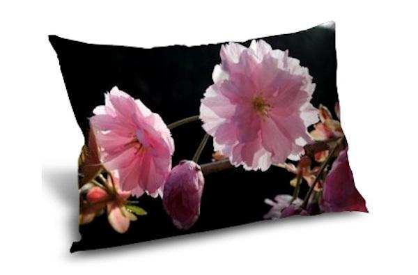 Coussin personnalisé photo aux couleurs du printemps