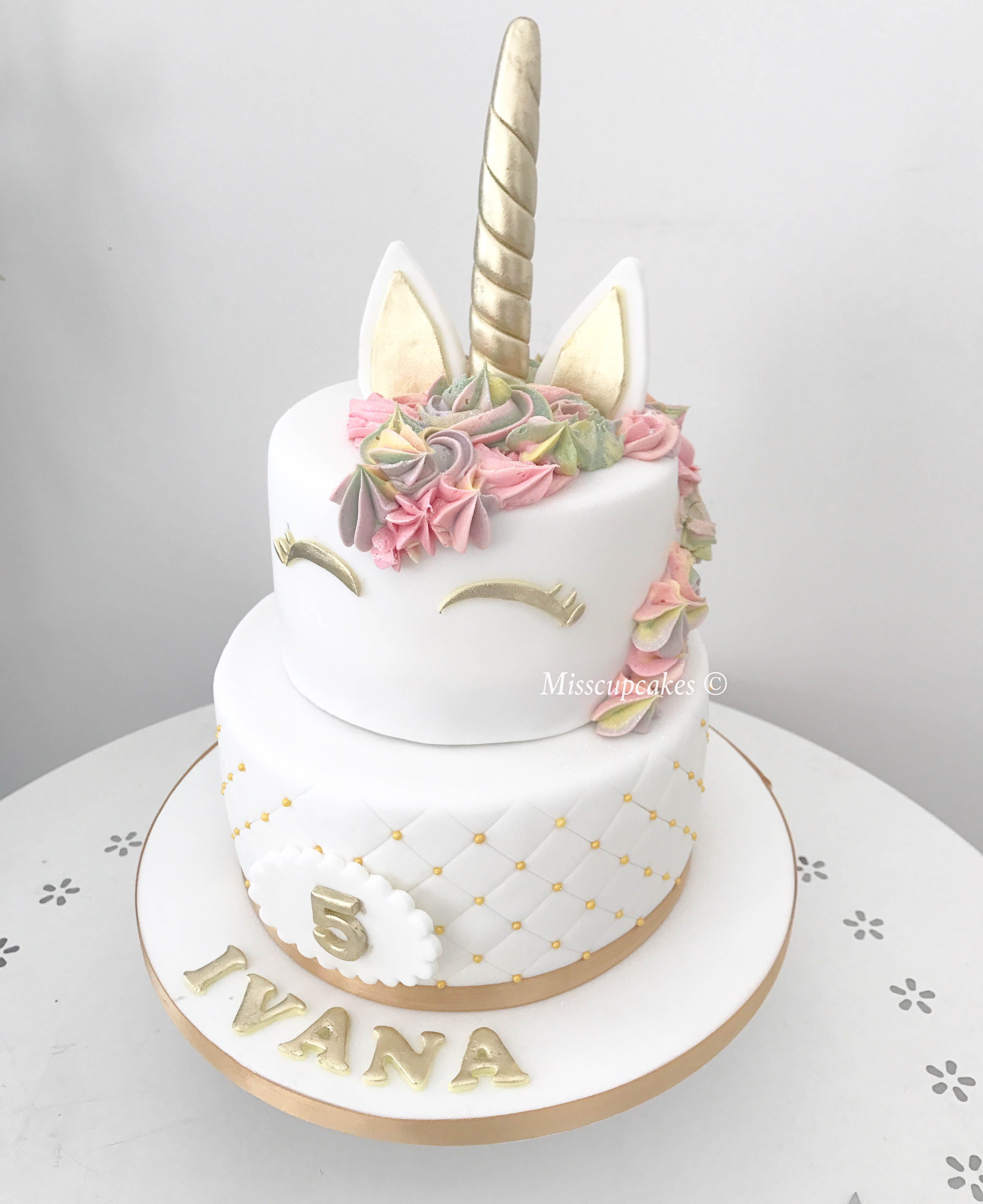 Miss Cupcakes Blog Archive 2 Tiered Unicorn Themed