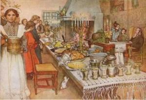 Canto di Natale, cena di natale
