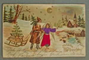 Canto di Natale, cartolina di Natale