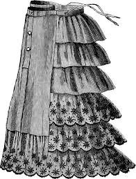 Crinolette, gabbie o balze di stoffa per dare volume