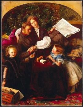 La pace conclusa, uno dei primi dipinti di Millais dopo il matrimonio con Effie Gray