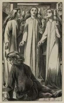 The Maids of Elfin-Mere, Rossetti (preraphaelitesisterhood.com)