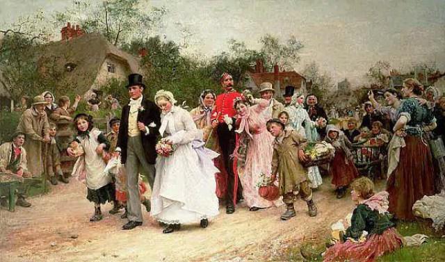 the village wedding sir samuel luke fildes1883