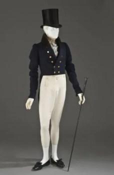 Man's_tailcoat_1825-1830 maschile regency