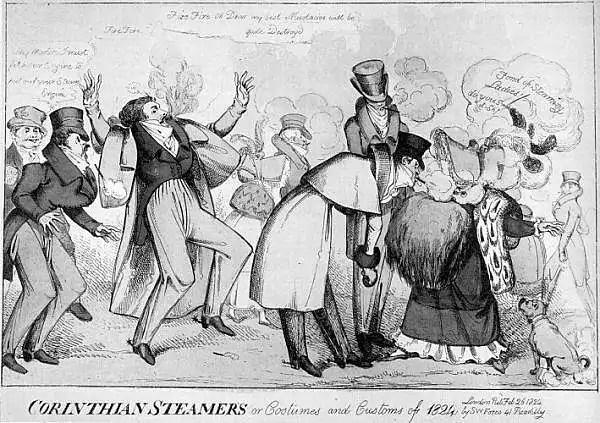 1824 smoking Heath caricature
