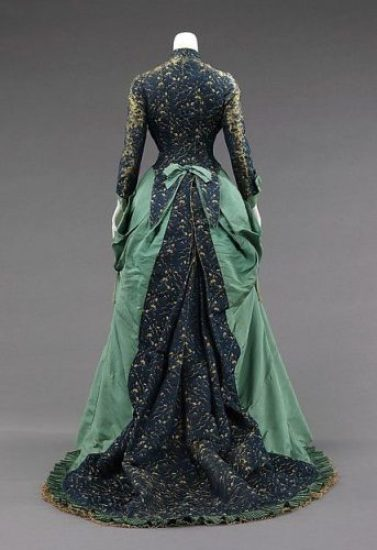 1875 afternoon dress