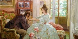 Courtship Scene by Rudolph Alfred Hoeger