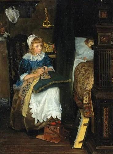 Lady Laura Alma-Tadema In Good Hands c.1884
