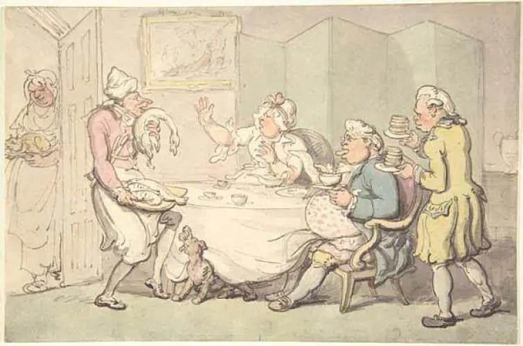 la servitù in epoca regency