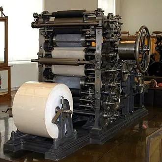 La stampa nell'800
