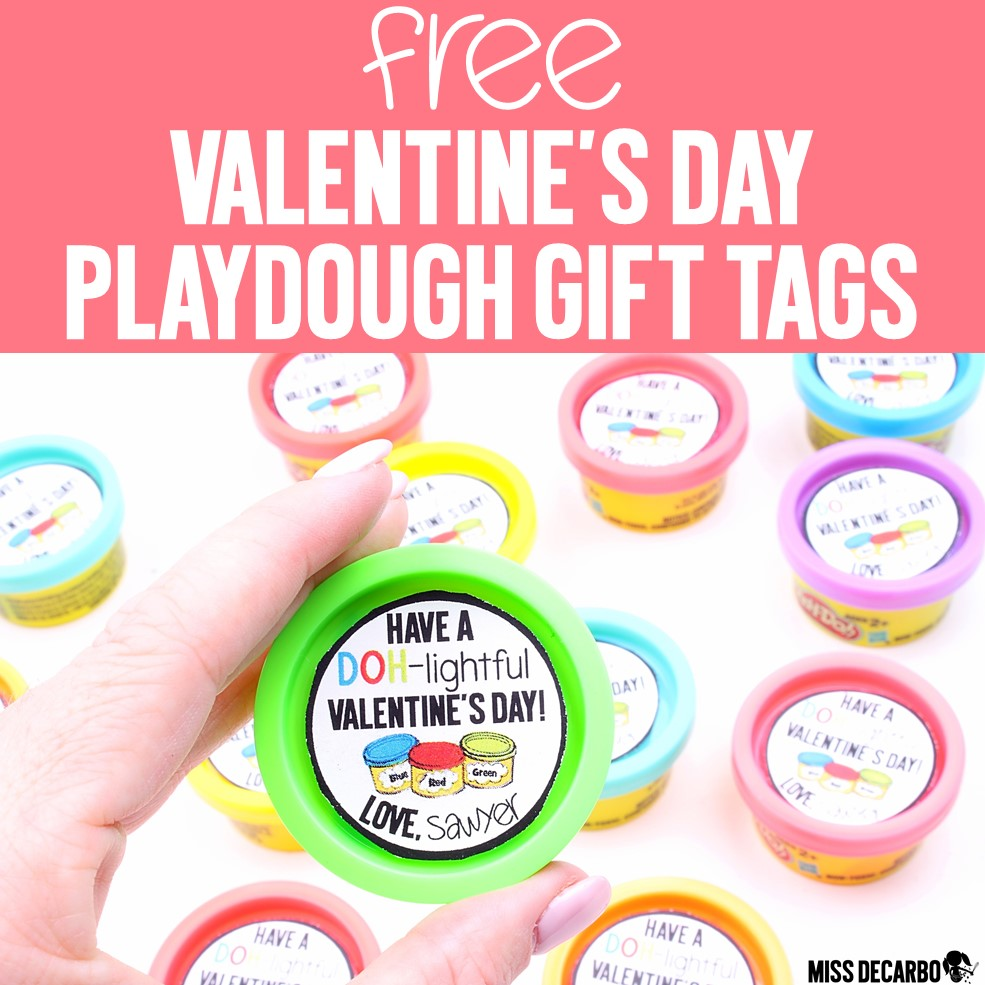 Valentines Day Playdough Gift Tags Miss DeCarbo