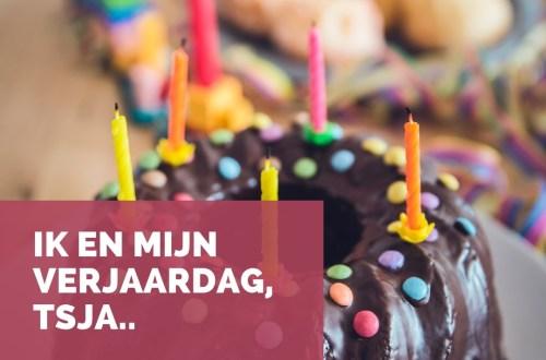 mijn verjaardag