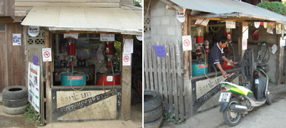 petrol station, Pai