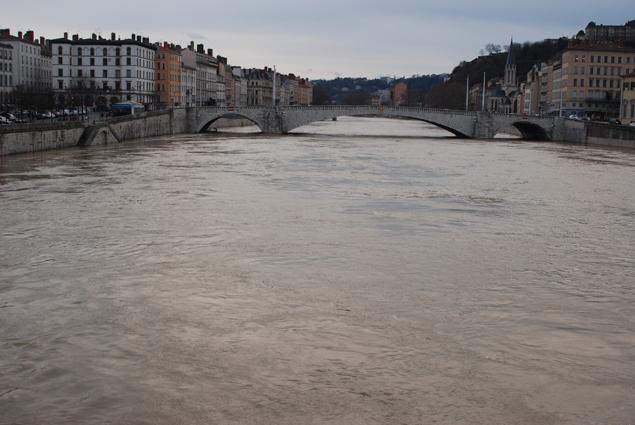 La Saône était en crue, c'est impressionnant