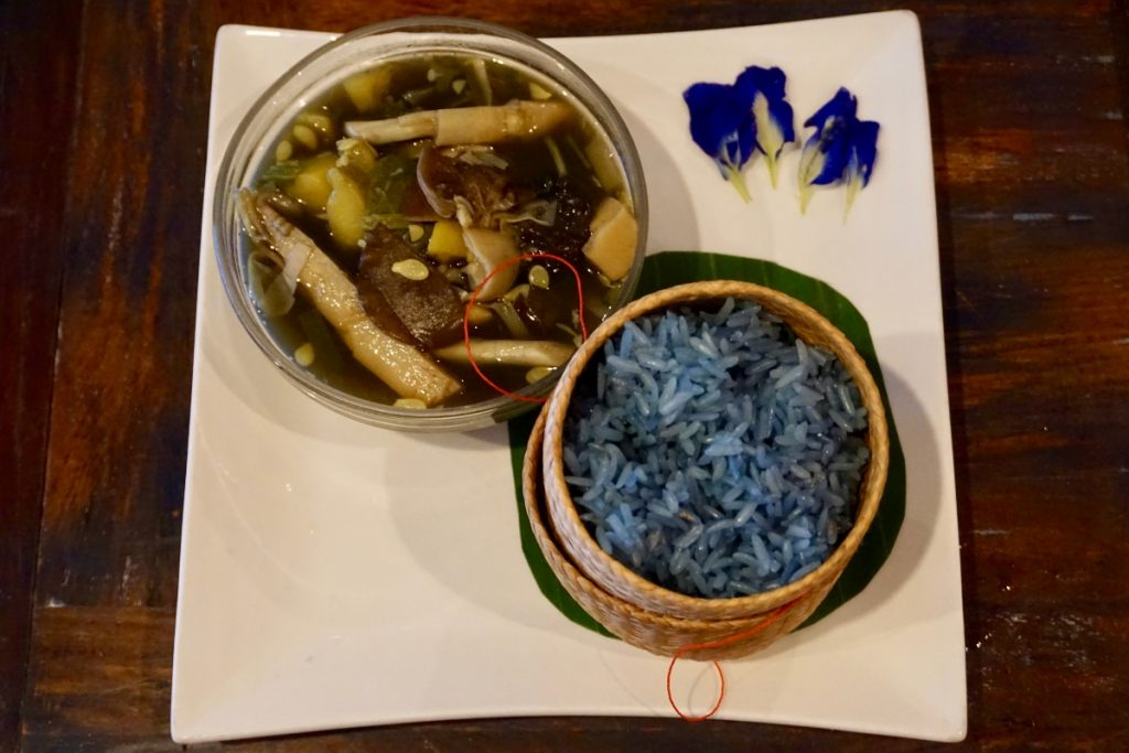 blue rice laos