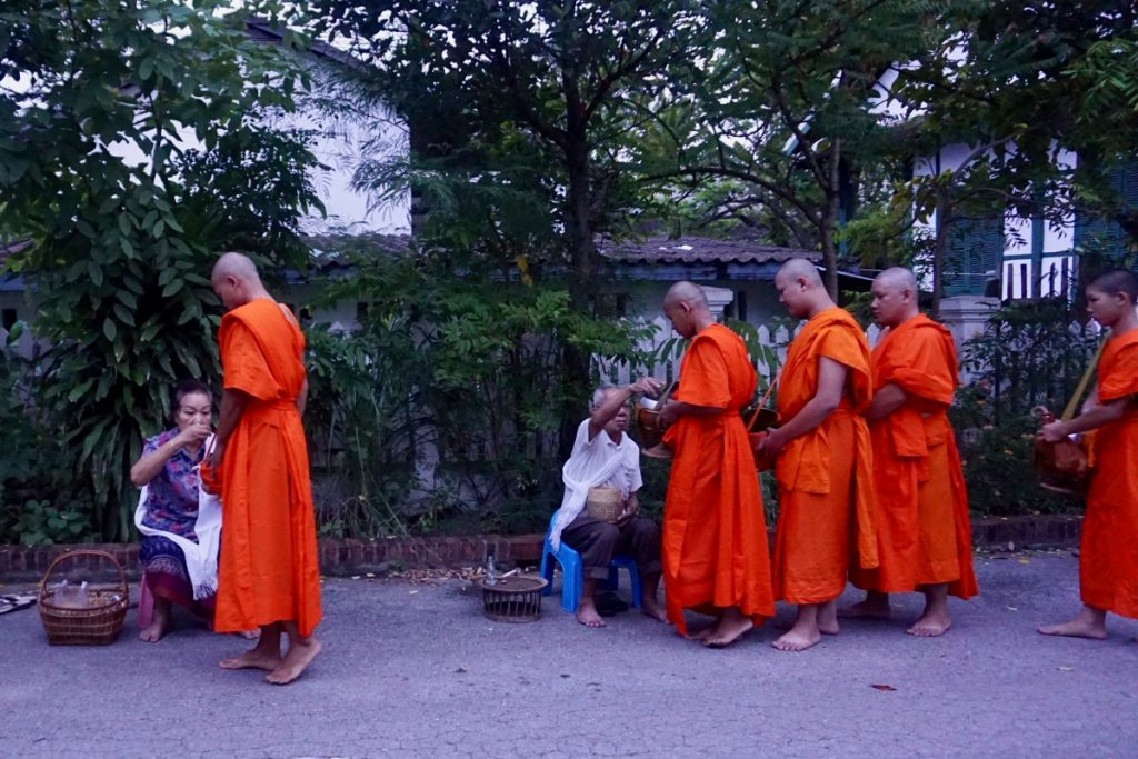 monks alms giving