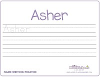 Handwriting Worksheets For Kindergarten Names